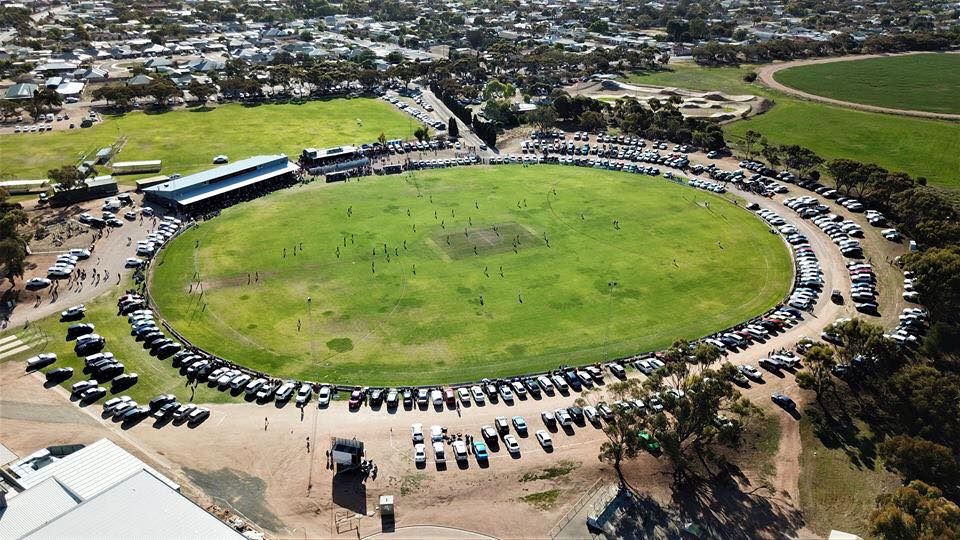 Aerial photo of Kadina oval