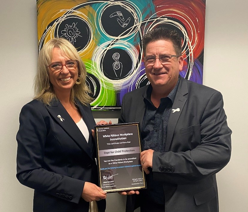 DCP's Executive Director Service Delivery and Practice Sue Macdonald  and Chief Human Resources Officer Michael Burton